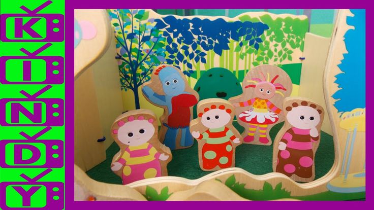 In The Night Garden Toys Wooden Play Set. Igglepiggle, Upsy Daisy, Makka...