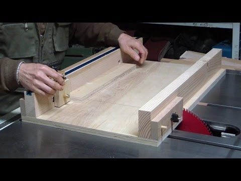 Adjustable table saw sled - YouTube