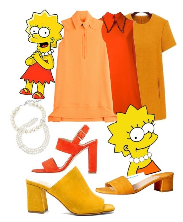 """Lisa Simpson"" by amywillson on Polyvore featuring LITI, McQ by Alexander McQueen, Victoria, Victoria Beckham, Carolee, Maryam Nassir Zadeh, Brother Vellies and Manolo Blahnik"