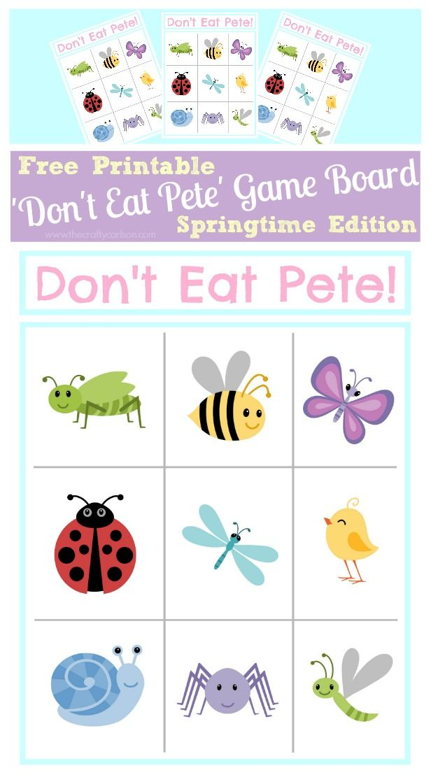 picture about Don T Eat Pete Printable identify Dont Try to eat Pete! Springtime Variation aa little ones house Crafts
