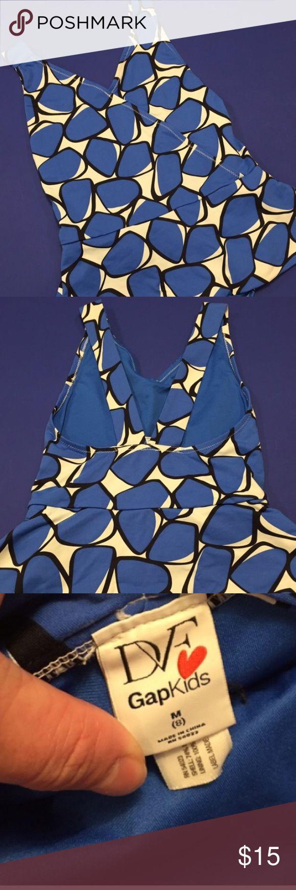 Diane Von Furstenberg for the GAP girls swimsuit DVF for gap girls swimsuit with attached shirt Diane von Furstenberg Swim One Piece