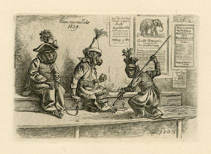 Интересное и забытое - быт и курьезы прошлых эпох. - Обезьянки. Графика. 15-19 век.