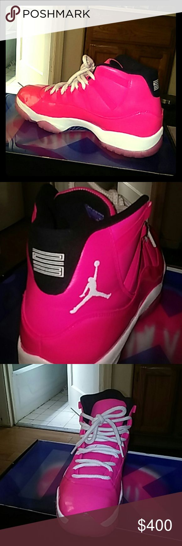Custom pink jordan 11 BNIB Beautiful Jordan's retro deadstock 11 custom pink Jordan Shoes Athletic Shoes