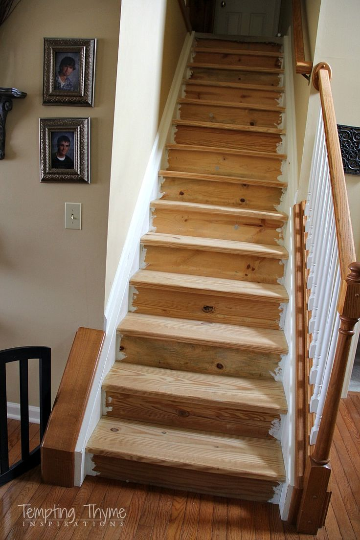 Awesome Change Carpeted Stairs To Wooden Stairs, Diy, Flooring, Hardwood Floors,  Stairs