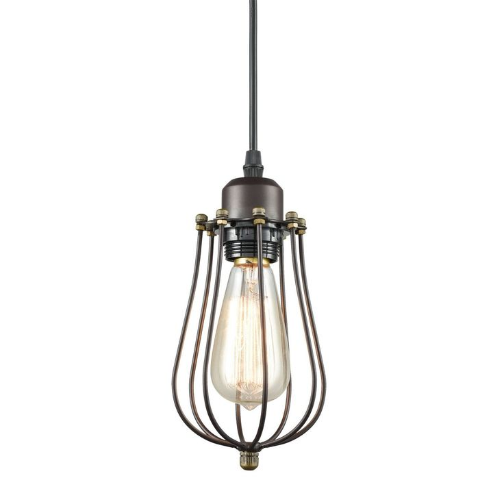 yobo lighting industrial edison hanging lamps oil rubbed bronze wire caged mini pendant lights voltage br base type br light source led bulbs or
