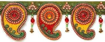 Image result for rakhi making with lamasa art