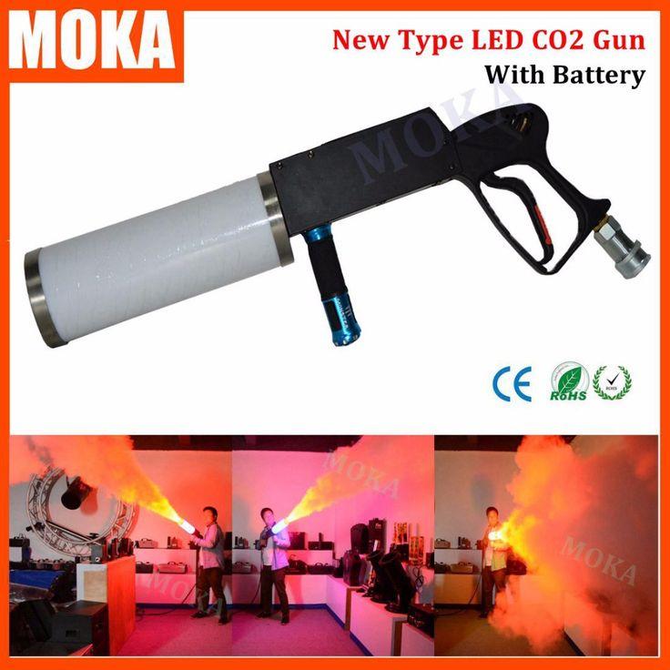 New type handhold LED CO2 DJ Gun with battery Led CO2 Jet Machine co2 pistol gun…