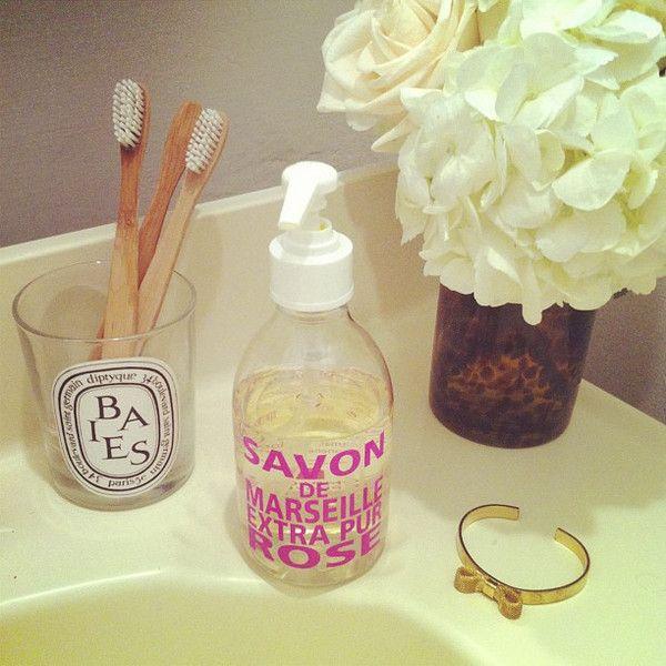 Bathroom counter.