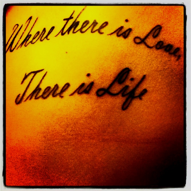 23 Epic Literary Love Tattoos: #where There Is Love, There Is Life. #tattoo #text