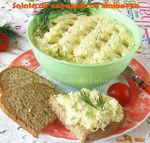 » Salata de conopida cu maionezaCulorile din Farfurie