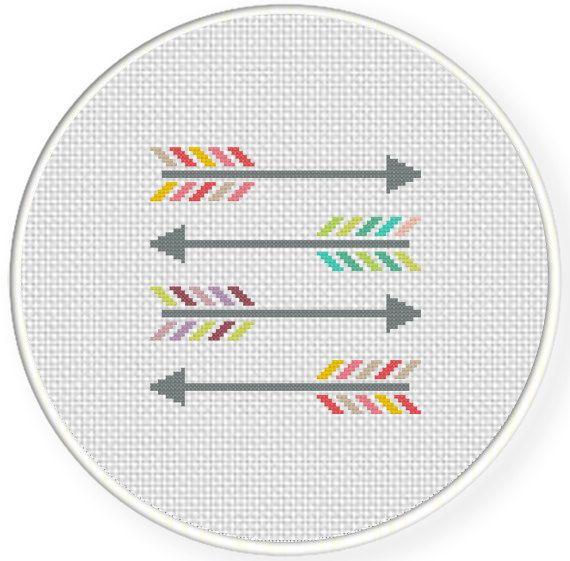 Colorful Arrows PDF Cross Stitch Pattern by DailyCrossStitch