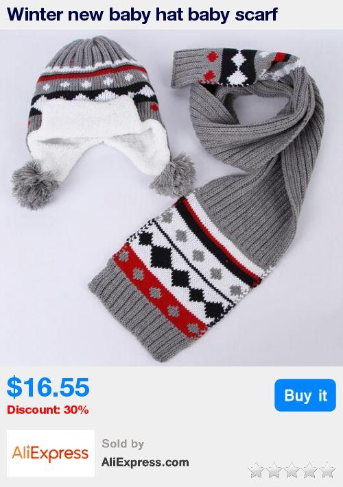 Winter new baby hat baby scarf beautiful jacquard woolen crochet hat kids winter hats girls warm scarf kids  hat scarf piece * Pub Date: 11:58 Jul 6 2017