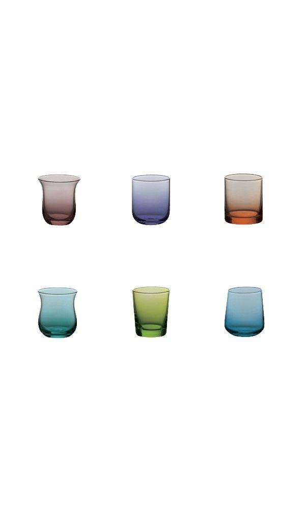 Set liquore Bitossi Set 12 liquoriniin vetro soffiatovari colori e forme Lista nozze