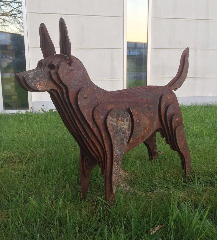 12 besten hund skulptur metall stahl rost kunst design - Skulptur metall garten ...