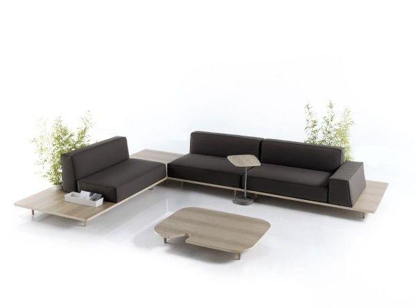 Simple and Comfortable Modular Sofa Design ideas with coffee table  Francesc Rifé for KOO International