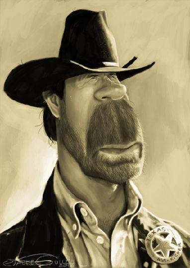 Chuck Norris    Artist: Jaume Cullell    website: http://www.jaumecullell.com