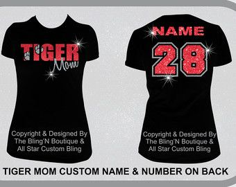 Custom Love FOOTBALL Bling Shirt Football Mom by TheBlingNBoutique