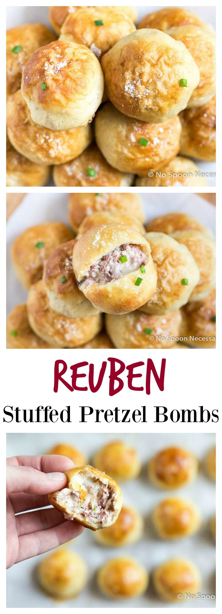Reuben Stuffed Pretzel Bombs