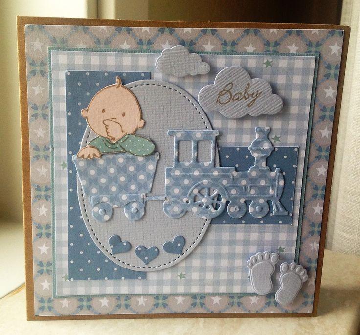 Vandaag een babykaartje gemaakt met die schattige materialen van MD, ze blijven leuk oud en nieuw.. Eline's Babie's Blue papierblok g...