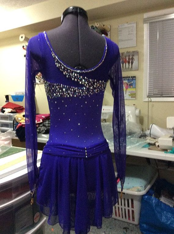 Competition Figure Skating Dress-Custom by SpiralsDesigns on Etsy
