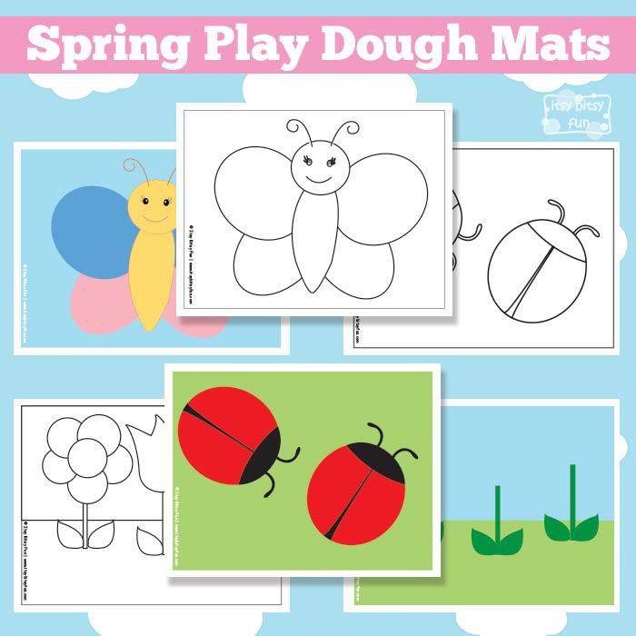 Fun Spring Play Dough Mats.