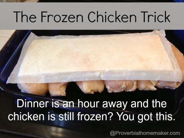 air force 1 white leather The Frozen Chicken Trick  Last Minute Meals  by ProverbialHomemaker com