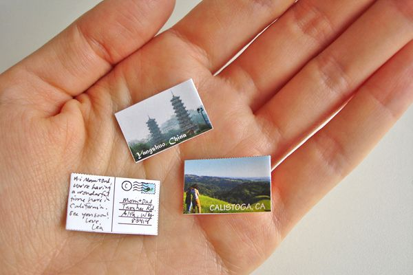 How to make the world's smallest postcard.  http://content.photojojo.com/diy/make-the-worlds-smallest-photo-postcard/