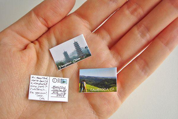 mini mini postcards
