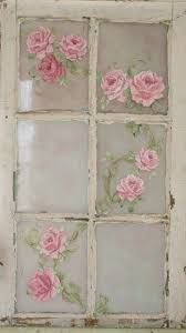 Image result for how to paint shabby chic flowers on old windows – Manuela Friedrich