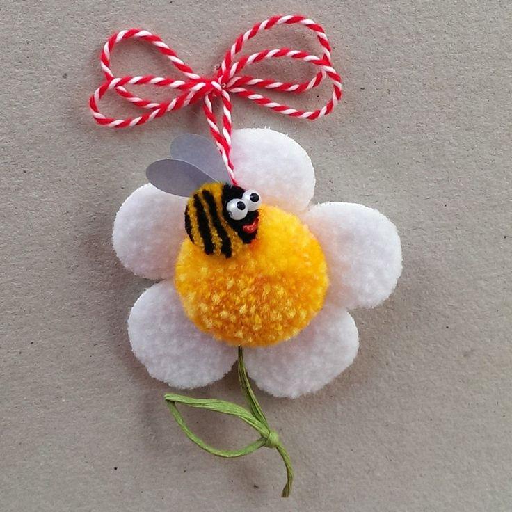 Маргаритка с пчеличка