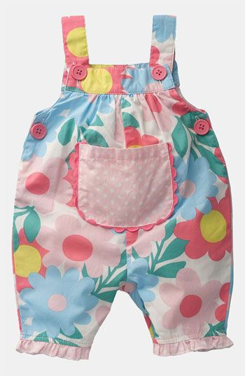 Mini Boden dungarees.  Cute.