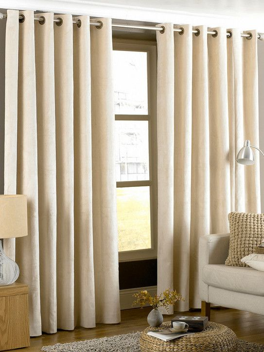 Extra Long Curtains With Valance Beige Alison Home Decor Cream Lined