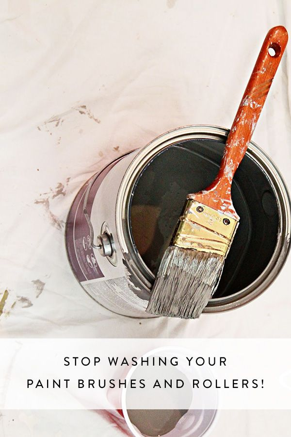 Stop Washing Your Paint Brushes and Rollers!