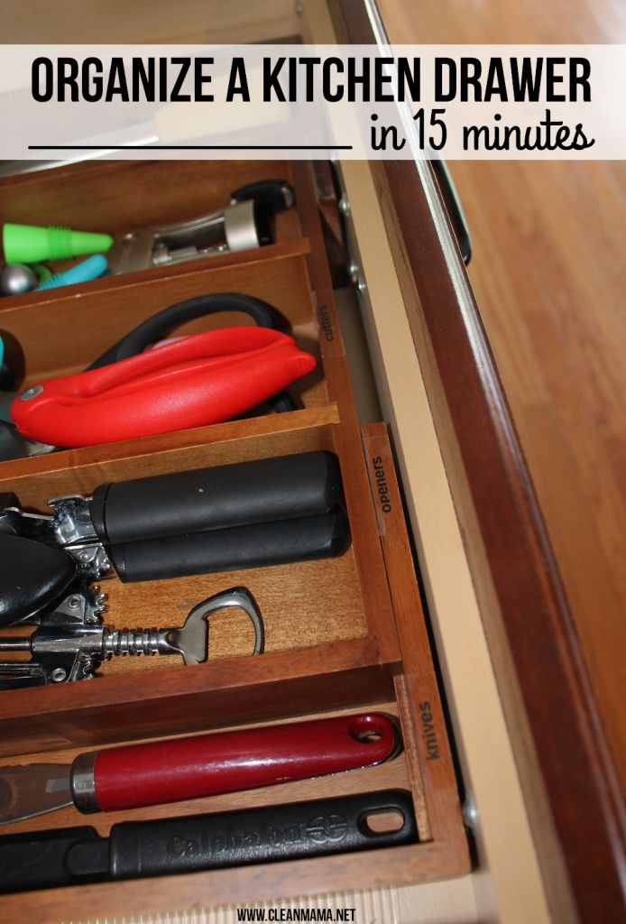 1000 images about kitchen organized drawers on for How to keep kitchen clean and organized