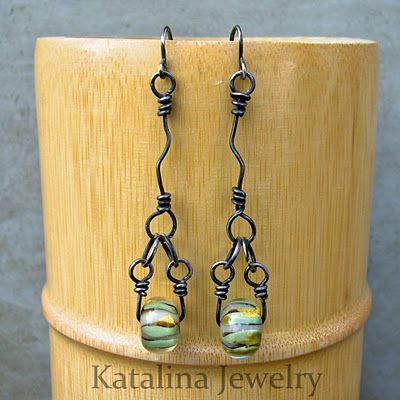 Katalina Jewelry: Links: Beaded and Crazy -Tutorial - Basic Wire Working Technique Series