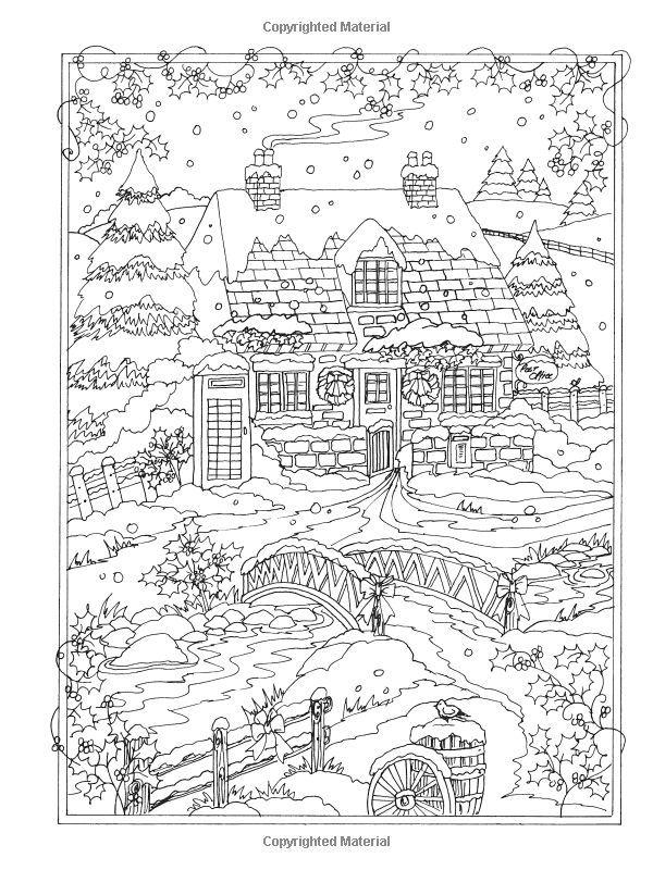 http://Amazon.com: Creative Haven Winter Wonderland Coloring Book (Adult Coloring) (9780486805016): Teresa Goodridge: Books