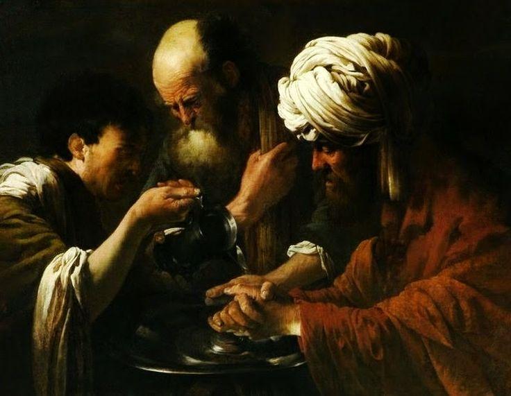 Hendrick ter Brugghen: Pilate Washing His Hands By Hendrick Ter Brugghen