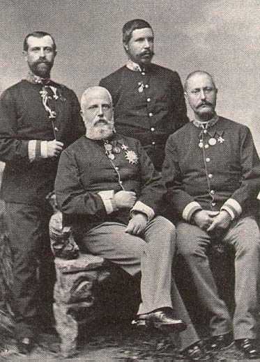 The four sons of Grand Duke Leopold II of Tuscany.