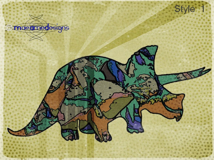 Dino Art Nursery Childs Decor Fun and Modern. €12,00, via Etsy.
