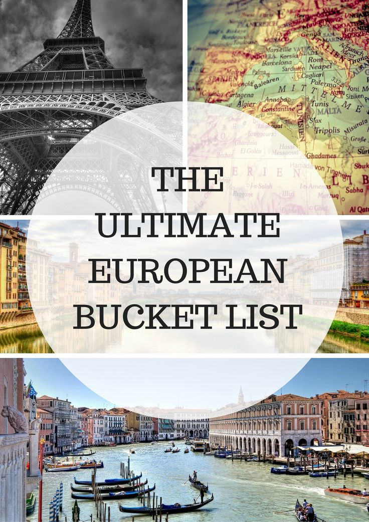 Planning to go to Europe soon? Check out this Amazing European Bucket List - Everything you should see and do when traveling to Europe is combined in this fantastic list.. Check it out!!!
