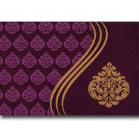 A truly charming and graceful designer card is made from finest quality of fabric materials, has nice artistic imprints all over in front, and comes with a beautiful designer envelope and very elegant inserts. Note: It can be customized as per your requirement.