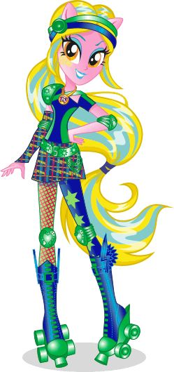 MLP Equestria Girls Friendship Games Lemon Zest Rollerskater Stock Image