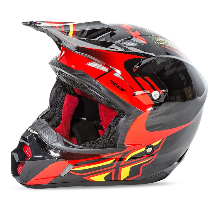 Casque motocross Fly racing Kinetic Pro Replica Andrew Short noir rouge 2016