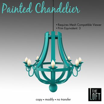 painted chandelier - Google Search