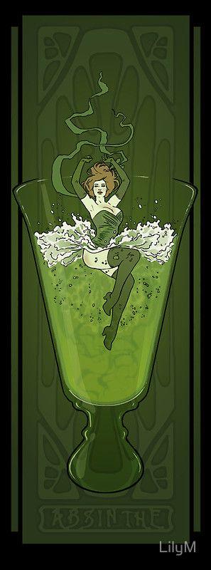Art Nouveau Absinthe Poster by LilyM