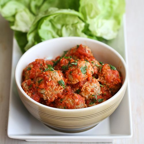 Baked Turkey, Quinoa & Zucchini Meatballs Recipe in Lettuce Wraps | Cookin Canuck