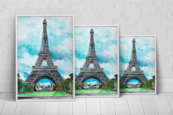 Europe France Paris Art Print Poster on Etsy, $27.35 AUD