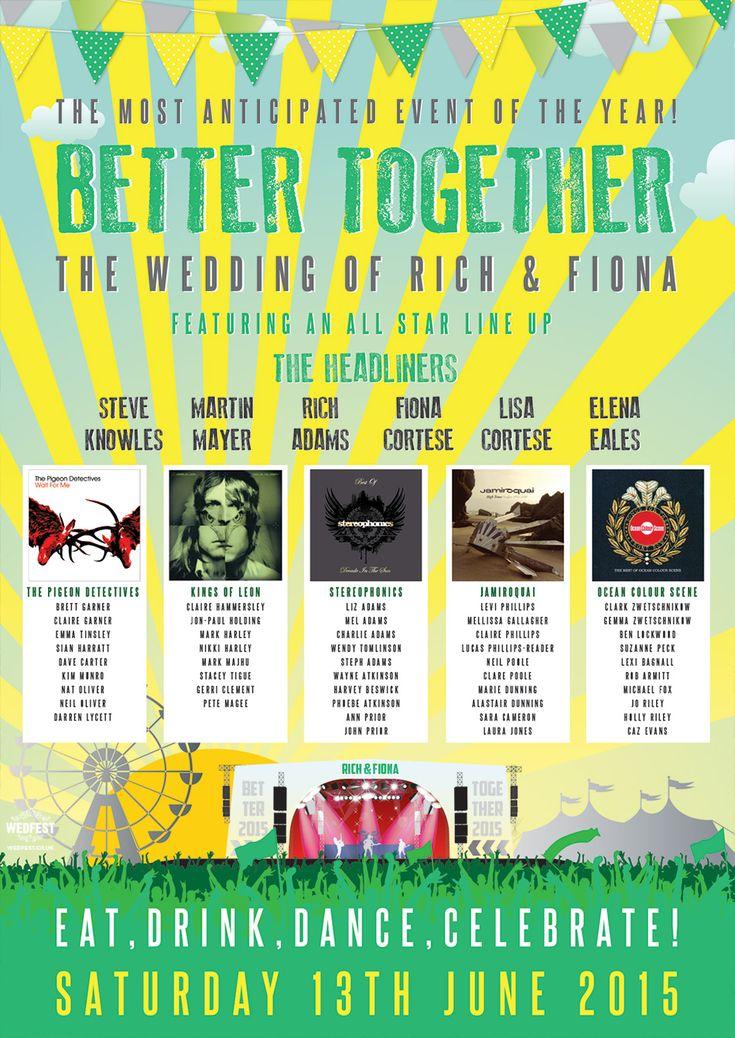 better together music festival wedding seating plan http://www.wedfest.co/better-together-festival-wedding/