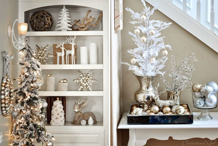 White, gold and silver Christmas