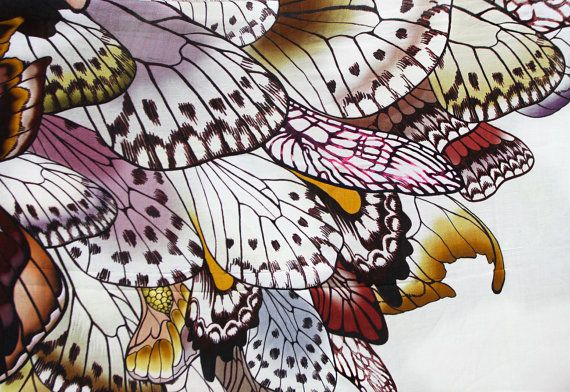 Women scarf Hand painted Butterflies in Earthy tones by Shovava, $56.00